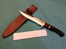 RARE JUNGLEE HATTORI FIGHTER KNIFE WITH ORIGINAL LEATHER SHEATH