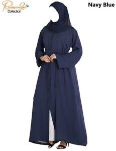 OPEN FRONT plain Dubai Abaya/kimono Madeby Excellent Premium Quality NIDA Fabric
