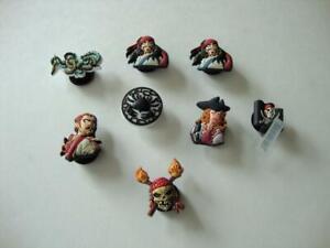 Disney Crocs Jibbitz Shoe Charms Pirates of the Caribbean Jack Sparrow - NEW