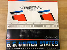 SS UNITED STATES LINES  1984 Auction Catalog for Contents of the Big U