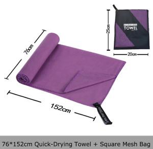 Microfiber Towel Sports Bath Gym Quick Drying Travel Swimming Camping Beach