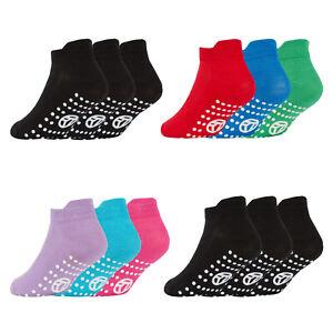 Kids Boys Girls Children Gripper Trainer Socks No Slip Liner Sports Gymnastics