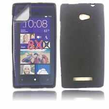 Fundas y carcasas mate de color principal negro para teléfonos móviles y PDAs HTC