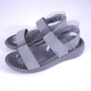 Crocs Lite Ride Women's Gray Double Strap Slingback Sandals Size 7