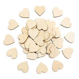 Love Heart Shape Wood Slices Wood Craft Embellishments Decor Ornament DIY