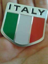 Italy Flag Logo Metal Car Motorcycle Stickers Tail Emblem