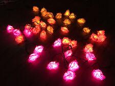Led Romantic Flower Rose Light Pink Orange Yellow Decor Exterior Outdoor Plugin