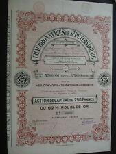 ACTION BELGIQUE RUSSIE   CHAUDRONNERIES DE ST PETERSBOURG  1899