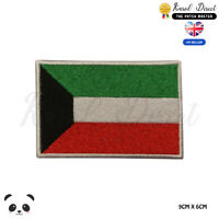 KUWAIT National Flag Embroidered Iron On Sew On PatchBadge For Clothes etc