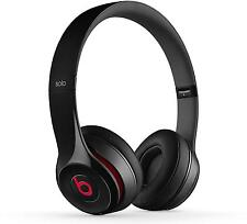 Beats Solo2 Gloss Black Headphones - Genuine Beats By Dre Wired Headphones