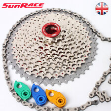 SUNRACE 8-11s 11-40/42/46T MTB Bike Cassette KMC Chain Sprocket Cassettes Tail