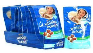 10 Bags Purina 1.7 Oz Whisker Lickin's Tuna Flavor Crunchy & Yummy Cat Treats