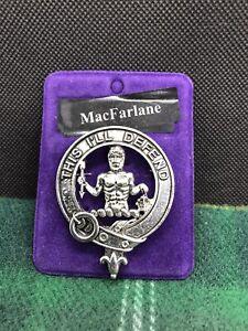 MacFarlane Metal Clan Bonnet Badge - Made in Scotland