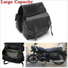 Black High Capacity Motorcycle Travel Bag Rear Seat Saddle Luggage Bag Universal