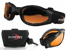 Lunettes Moto Bobster Crossfire oranges pliantes avec Étui