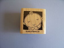 STAMPIN' UP RUBBER STAMPS BABY WITH SHADOW BACKGROUND STAMP