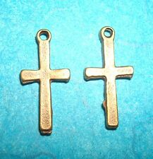 Pendant Cross Charm Bronze Cross Crucifix Charm Religious Symbol Charm Rosary
