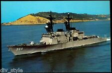 USS Leftwich DD-984 Destroyer postcard  US Navy War Ship (card2of2)