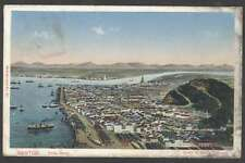 Brazil Postcard Santos Port & Ships To Argentina 1912