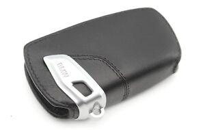 Genuine BMW Key Holder Fob Leather Case Cover Black 82292219911
