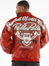 2017 PELLE PELLE GREATEST OF ALL TIME GOAT LEATHER JACKET RED SIZE 44/MEDIUM-LRG