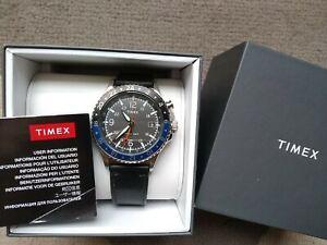 TIMEX Three GMT Dual Time Indiglo Quartz Watch