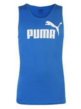 PUMA Mens Royal Blue & White No 1 Sleeveless T-Shirt Vest Top XL BNWOT