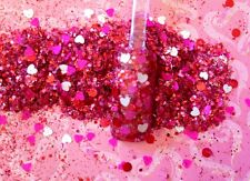 glitter mix nail art acrylic gel   SO VALENTINE