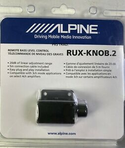 NEW ALPINE RUX-KNOB.2 Remote Control Bass Knob For Select Alpine Amplifiers Amps