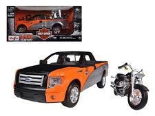 2010 Ford F-150 STX - Harley Davidson Diecast Model - 1:24 Maisto 32187ORBK*