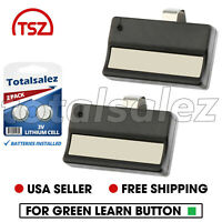 2 For Liftmaster 81LM Garage Gate Door Opener Visor Remote Green Learn Button