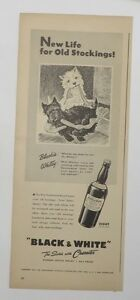 Original Print Ad 1943 BLACK & WHITE SCOTCH Westies New Life Old Stockings