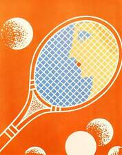 "ORIGINALE VINTAGE Erte Art Deco Print ""TENNIS"" Chic Lady LIBRO Piastra"