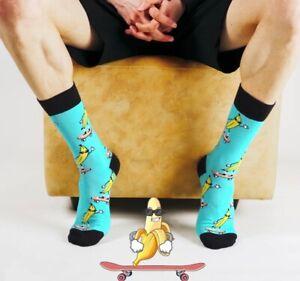 Men Banana Skateboard Socks/Funny Socks/Gift Socks/Novelty Socks