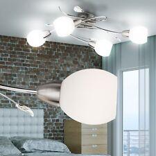 Design Decken Lampe Küchen Beleuchtung Chrom Blätter Leuchte Wohnraum Strahler