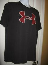 Under Armour M Shirt Loose Fit Preowned Used Logo Mens Ua Heatgear Black