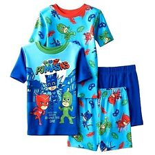 4 Pc PJ MASKS Sz 8 PAJAMAS SHIRTS SHORTS Boy's SLEEPWEAR SETS Catboy Gekko