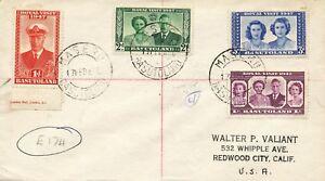 Basutoland 1947 Royal Visit Sur Very Fine R-Fdc Of Maseru / Basutoland Pour USA