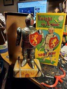 Knight In Armor Cragstan Masudaya Toys Target Game With Box Japanese Robot Toy