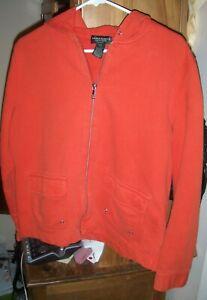 Lauren Jeans Co. Ralph Lauren ~ Women's Orange Hooded Sweatshirt ~ Petite Sz P/L