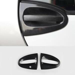 ABS Carbon Fiber Exterior Door Handle Bowl Cover Trim For Smart Fortwo 2009-2014