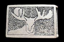 Belt Buckle Moose Head Hunters Deer Buck Wild Animal Metal Cool Belts Buckles