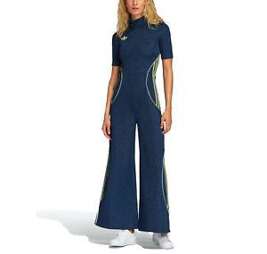 adidas Originals Women's x Anna Isoniemi Glittery Wide Leg Jumpsuit One Piece
