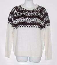 H&M Ladies Alpaca Blend Jacquard Knit Beaded Embroidery Pullover Sweater L NWT