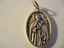 "Saint Martin de Porres Oval Medal 1"" tall  New!  Made in Italy! ""Pray for Us"""