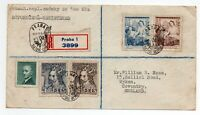 1948 Registered Cover From Prague Czechoslovakia To UK Detail Etc As Scanned