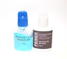 Eyelash Extension Lash Primer + EZ Off - No Drip GEL Glue Remover