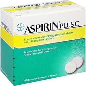 ASPIRIN plus C Brausetabletten 40St Brausetabletten PZN 3464237