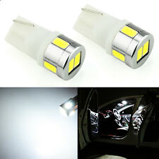 JDM ASTAR 02x White T10 5730 6-SMD LED License Map Interior Light Bulbs 194 W5W