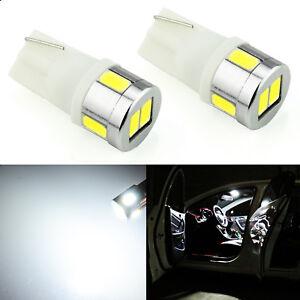 JDM ASTAR 02x White T10 5730 6-SMD LED License Map Interior Light Bulbs 194 W5W
